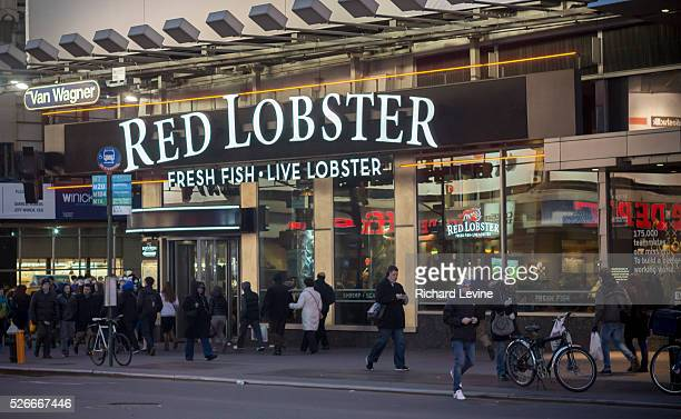 Red Lobster restaurant in Times Square in New York is seen on Tuesday, March 18, 2014. Beyonce's mention of the casual dining restaurant chain Red...