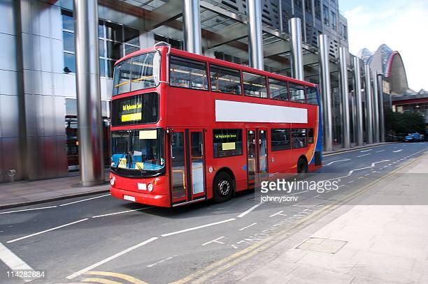 red london bus... - double decker bus stock pictures, royalty-free photos & images