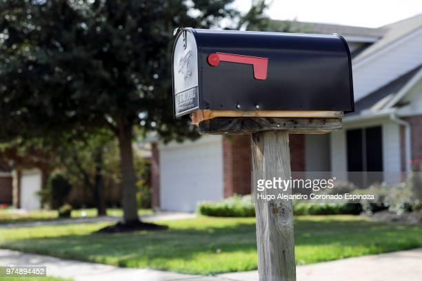 red mail - mailbox stock pictures, royalty-free photos & images
