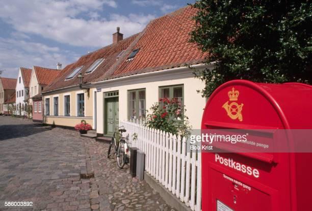 Red Mailbox on Street