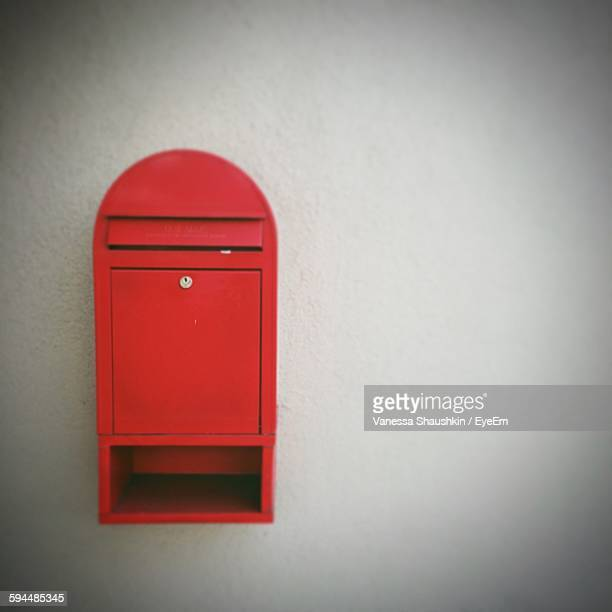 Red Mailbox On Wall