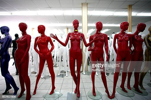 Red mannequins in a mannequin store in Athens April 19 2016