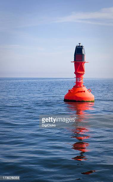 Red Maritime Buoy