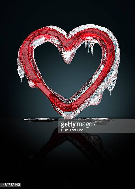 red melting heart - atomic imagery stock pictures, royalty-free photos & images
