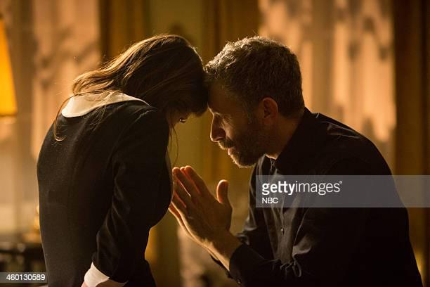 GRIMM 'Red Menace' Episode 309 Pictured Angela Gots as Larissa Mark Ivanir as Boris Myshkin
