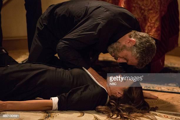GRIMM 'Red Menace' Episode 309 Pictured Mark Ivanir as Boris Myshkin Angela Gots as Larissa