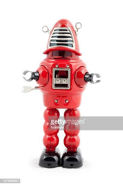 metal roja robots de juguete