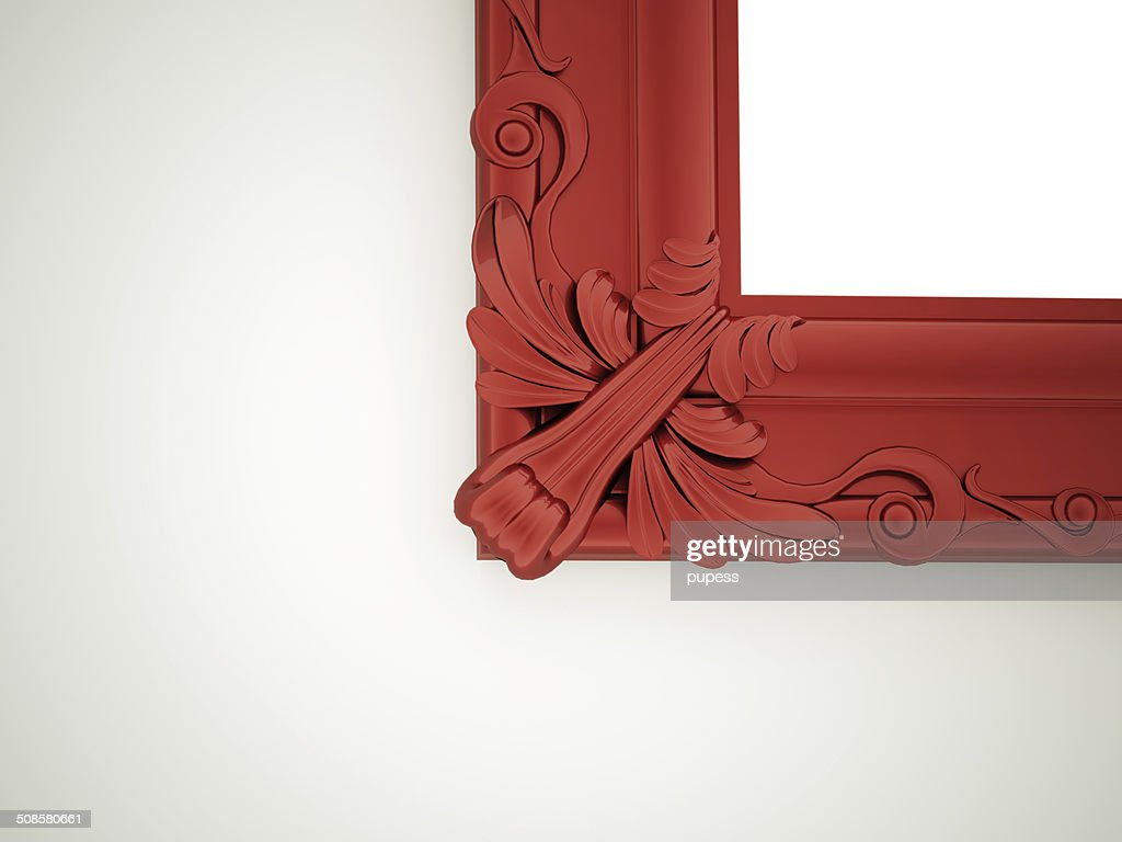 Red mirror frame : Stock Photo