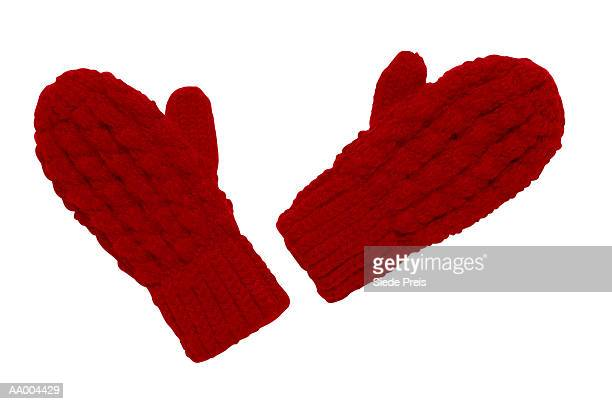 red mittens - mitten stock pictures, royalty-free photos & images