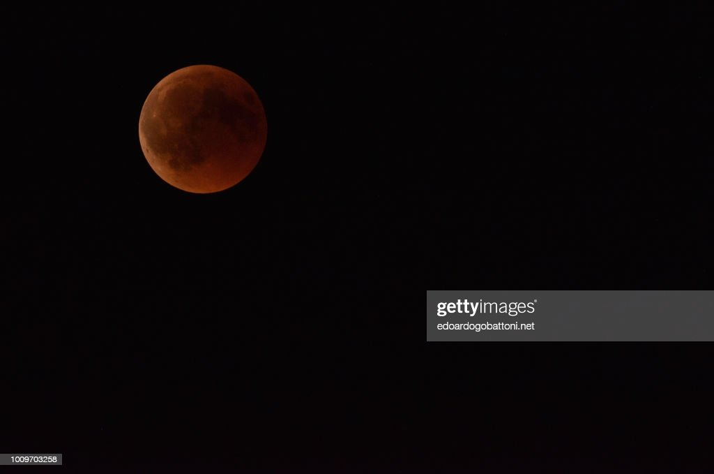 Red Moon Eclipse : Stock Photo