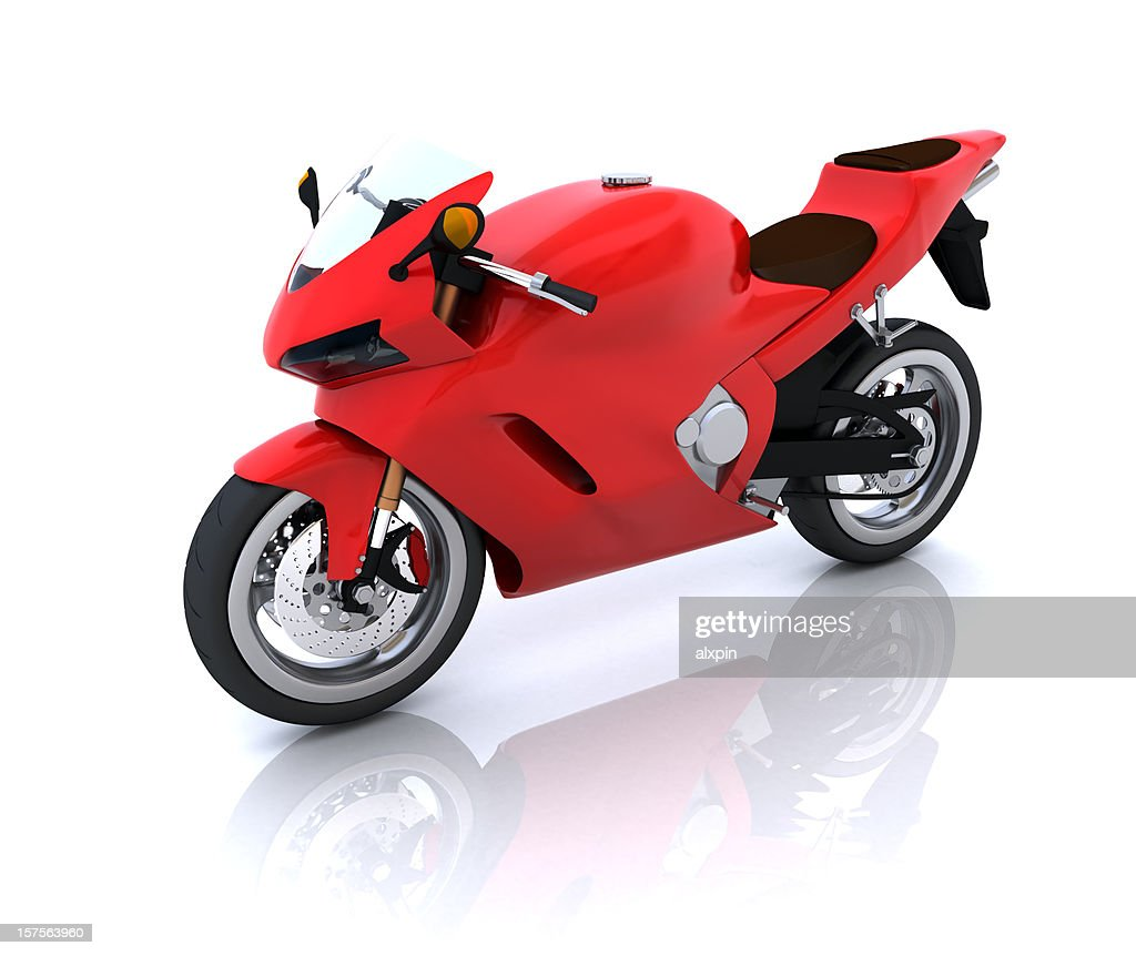 Red Motorcycle : Stock Photo