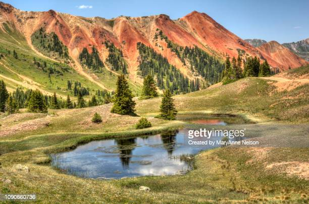 Red Mountain with Mountain Pond Reflections