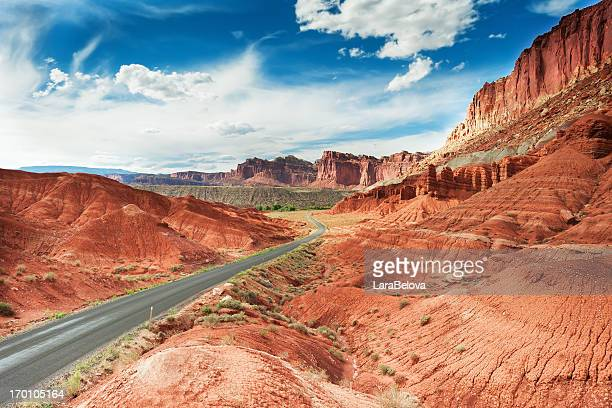 red mountains - capitol reef national park stock pictures, royalty-free photos & images