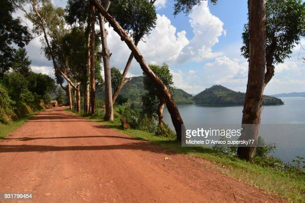 Red murram road around Lake Burera