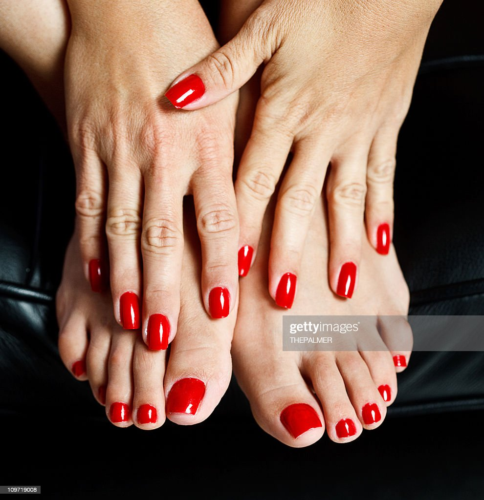 red nails : Stock Photo