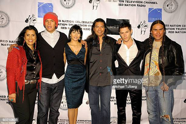 Red Nation Film Festival founder Joanelle Romero Twilight Saga New Moon actors Chaske Spencer Tinsel Korey Gil Birmingham and Alex Meraz and actor...