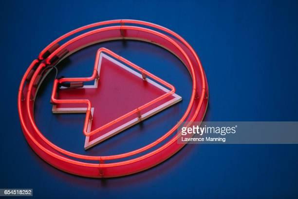 Red Neon Arrow
