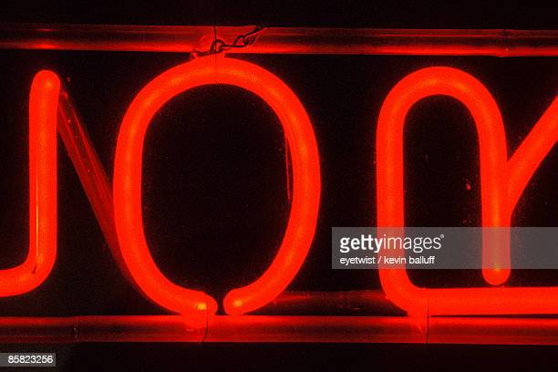 Red neon wall