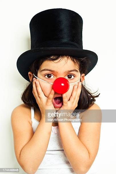 red nose - clown's nose stock photos and pictures