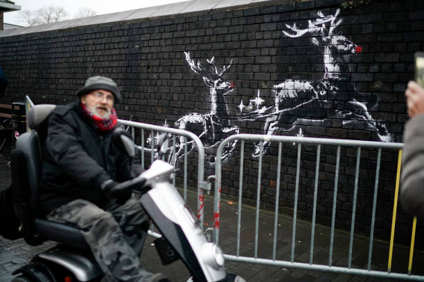GBR: New Banksy Mural In Birmingham Highlights Homelessness
