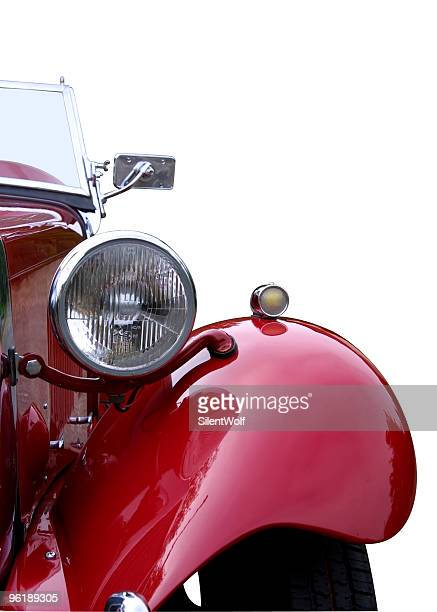 red oldtimer detail (with clipping path) - vintage car stock pictures, royalty-free photos & images