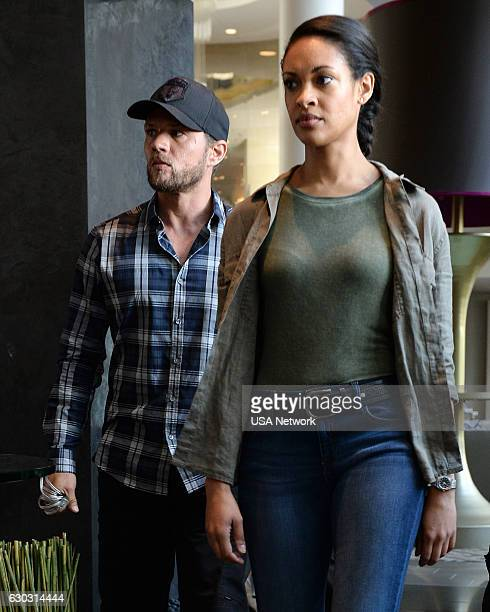 SHOOTER Red on Red Episode 108 Pictured Ryan Phillippe as Bob Lee Swagger Cynthia AddaiRobinson as Agent Nadine Memphis