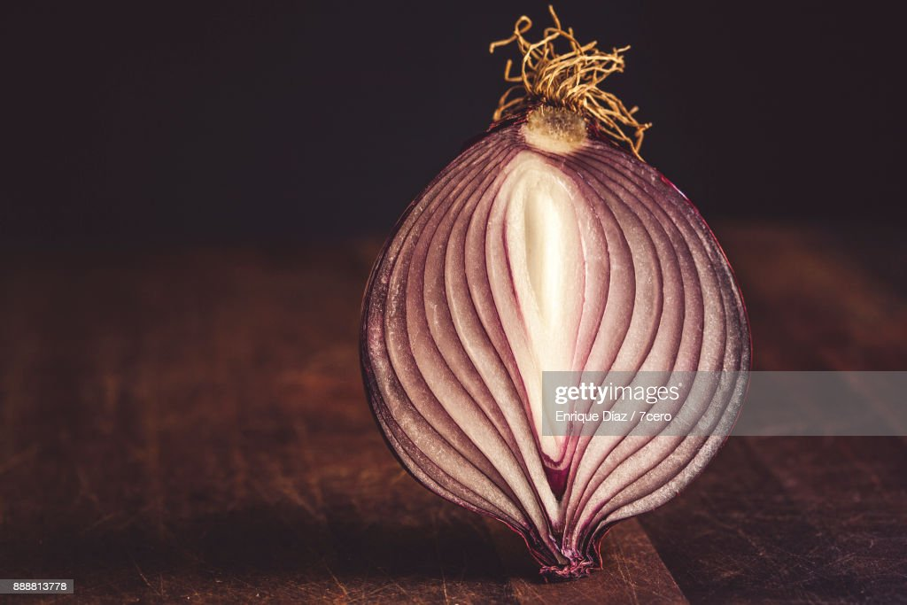 Red Onion Still Life : Stock Photo