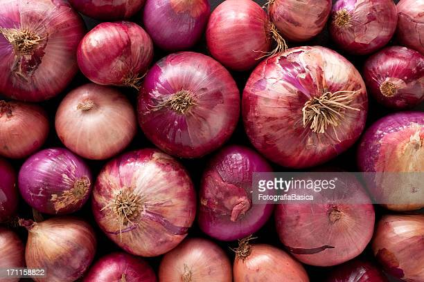 red onions background - onion stock pictures, royalty-free photos & images