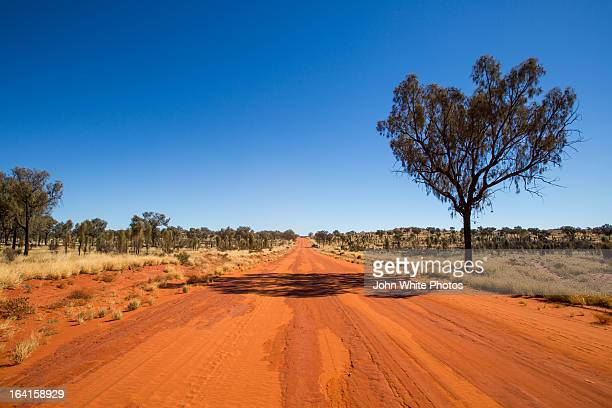Red outback road. Northern Territory.