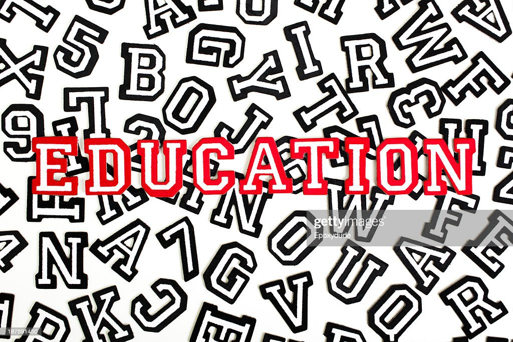 Red Outlined Varsity Font Stickers Spelling Education Top