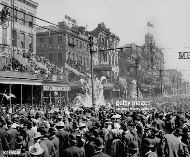 Red Pageant Mardi Gras Parade New Orleans Louisiana USA Detroit Publishing Company 1890