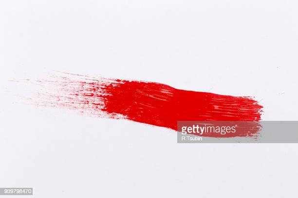 red paint splash - aaien stockfoto's en -beelden