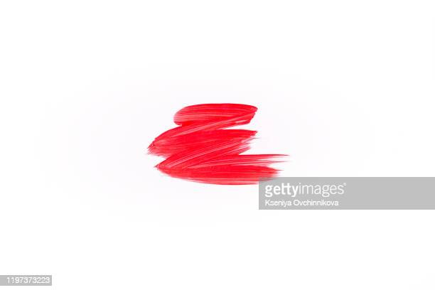 red paint stroke isolated on white,  illustration - stoking stock pictures, royalty-free photos & images