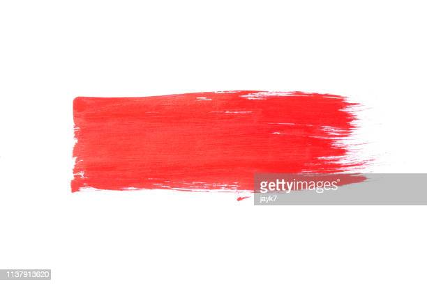red paint stroke - aaien stockfoto's en -beelden