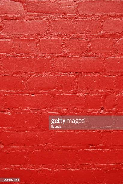 Red painted brick wall texture