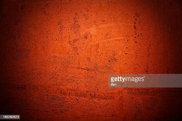Red Painted Rusty Metal Background