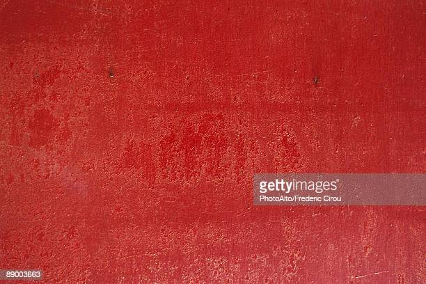 Red painted surface