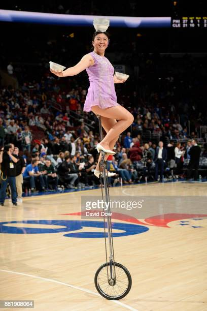 Red Panda performs during halftime of Cleveland Cavaliers against the Philadelphia 76ers on November 27 2017 in Philadelphia Pennsylvania NOTE TO...