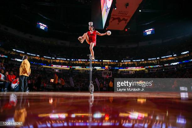 Red Panda performs during halftime of the game between the Minnesota Timberwolves and the New Orleans Pelicans on March 3 2020 at the Smoothie King...