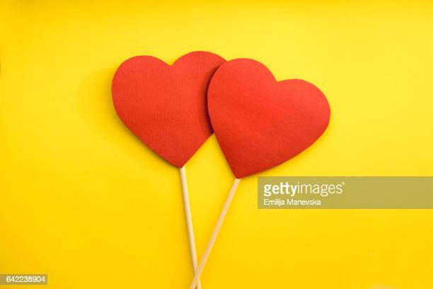 red paper heart - heart month stock photos and pictures