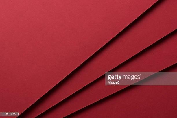 red paper stacking - couches superposées photos et images de collection