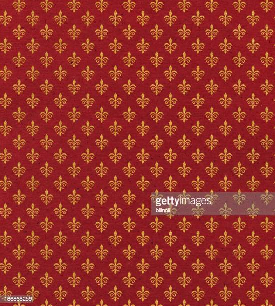 red paper with symbol
