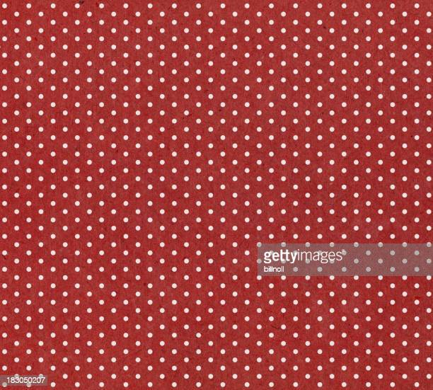 red paper with white dots