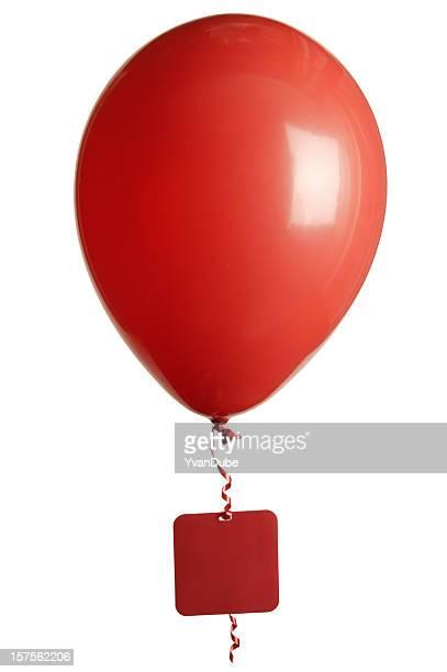 Fiesta de globos aerostáticos etiqueta en blanco