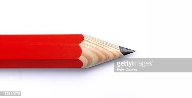 Red pencil with copy space
