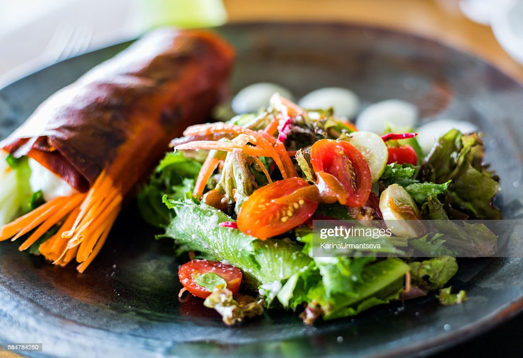 Red pepper wrap : Stock Photo