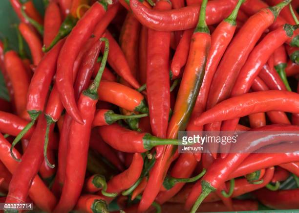 Red Peppers at the market