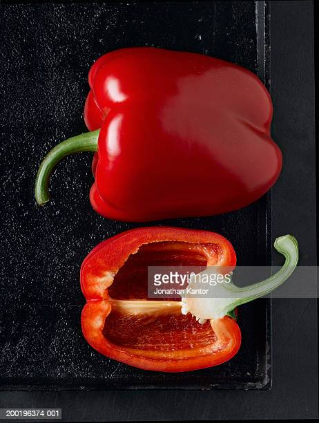 Red peppers, close-up