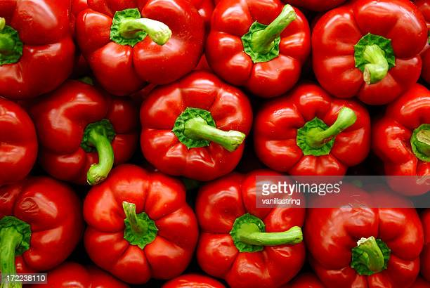 red peppers - fruit stock pictures, royalty-free photos & images