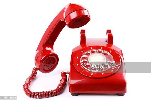 Roten Telefon Isoliert
